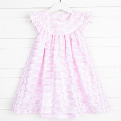 Lucy Dress Rose Stripe