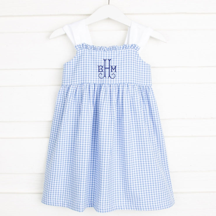 Marine Blue Stella Dress Gingham