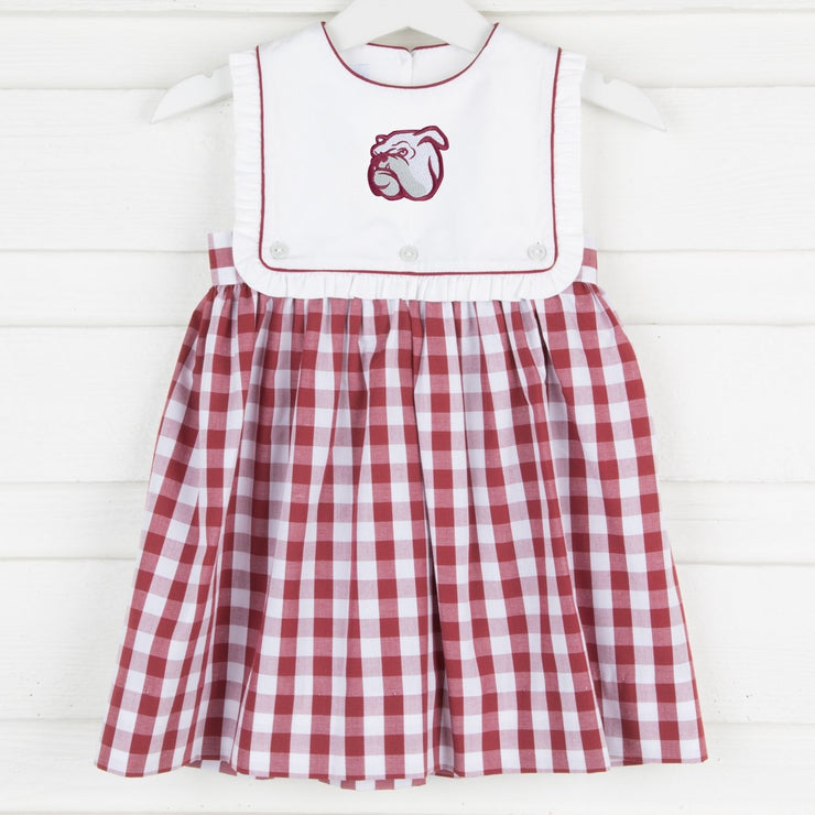 Mississippi State Embroidered Dress Check