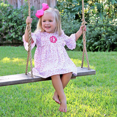 Olivia Dress Pink and Purple Hearts