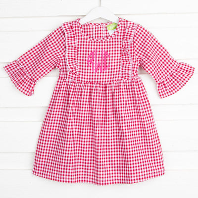 Olivia Red Gingham Dress