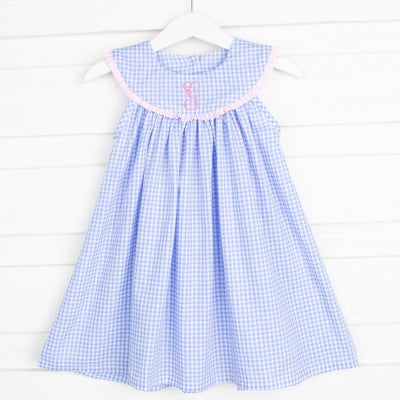 Pacific Blue Lindsey Dress Gingham