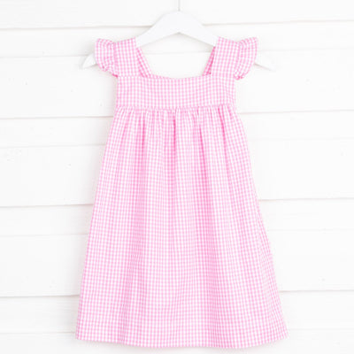 Petal Pink Amy Dress Gingham