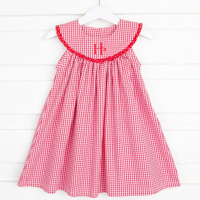 Picnic Red Lindsey Dress Gingham