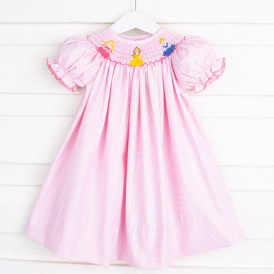 Princess Smocked Bishop Pink Gingham