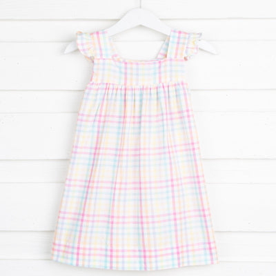 Rainbow Plaid Amy Dress