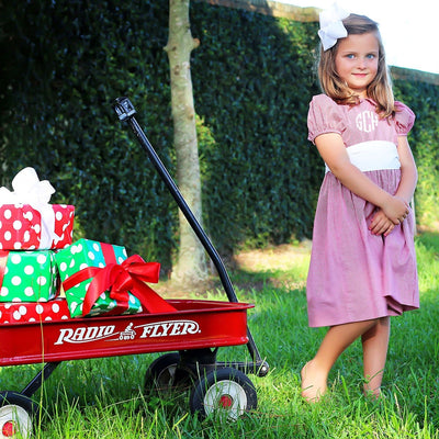 Red Gingham Sash Dress