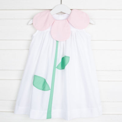 Tulip Dress White and Pink
