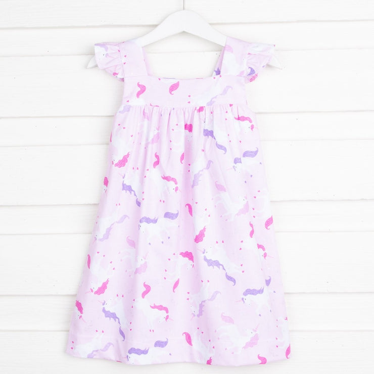 Unicorn Amy Dress Pink and Lavender