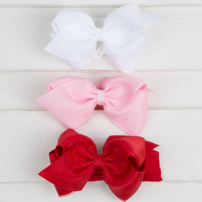 Mini King Organza Overlay Bow Baby Band