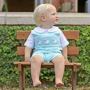 Smocked Sheep Mint Gingham Jon Jon