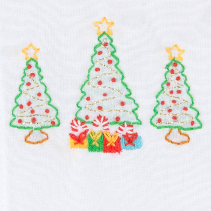 Boys Christmas Tree Embroidered Day Gown