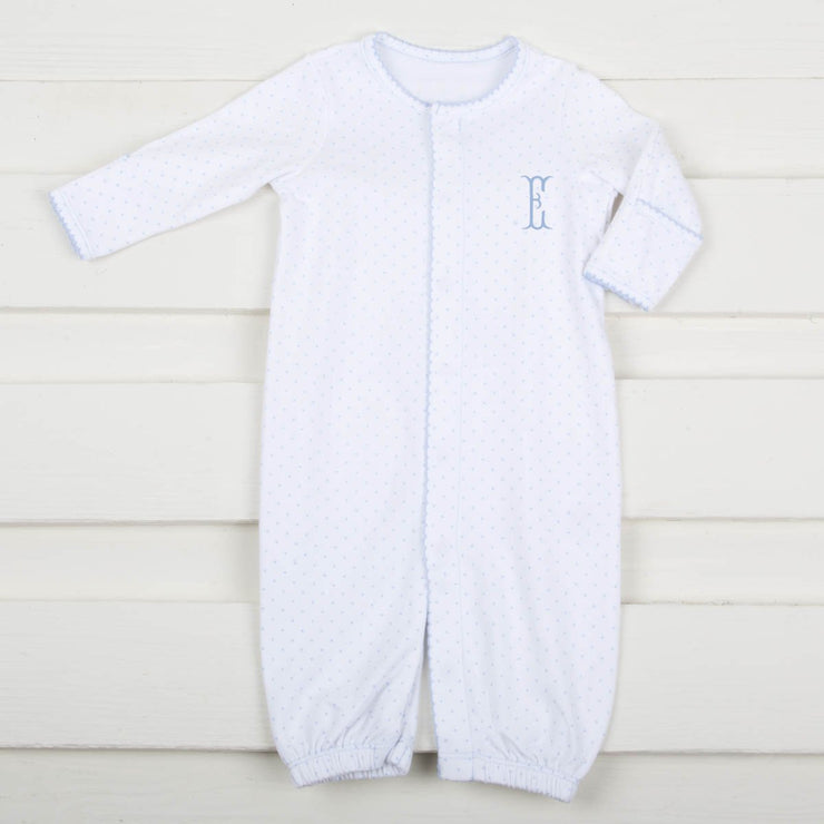 Convertible Tiny Star Onesie White and Light Blue
