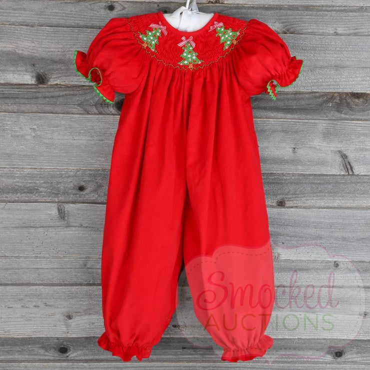Christmas Tree Long Bubble Red Corduroy
