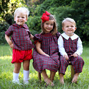 Christmas Eve Plaid Longall Red and Green