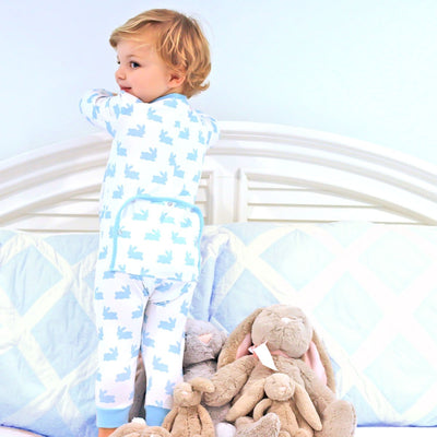 1-Piece Bunny Dreams Knit Loungewear Blue