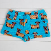 Blue Hot Dog Fleece Shorts