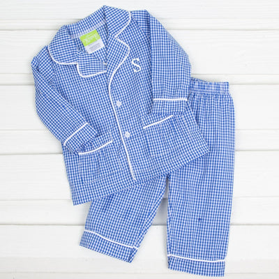 Boys Menswear Loungewear Royal Gingham