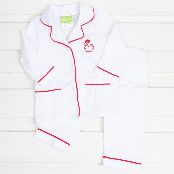 Boys White Santa Knit Loungewear