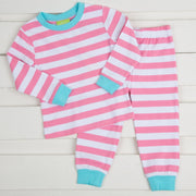 Candy Pink Stripe Knit Loungewear