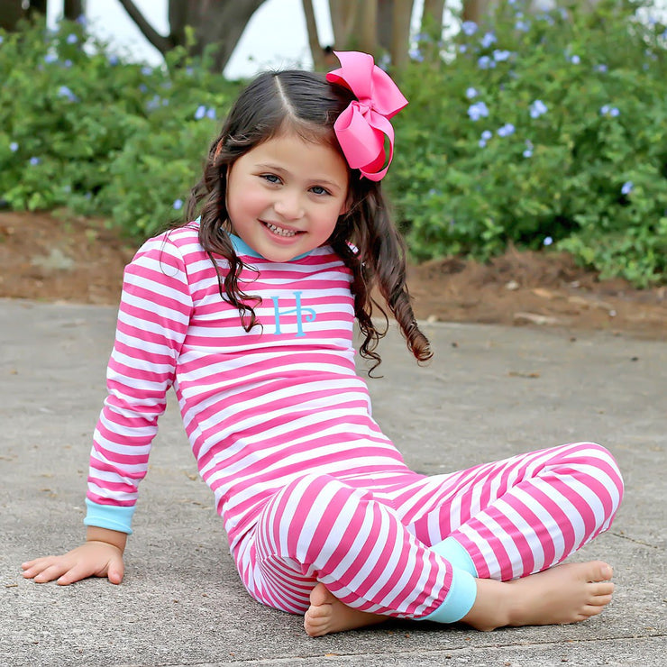 Hot Pink Stripe Loungewear