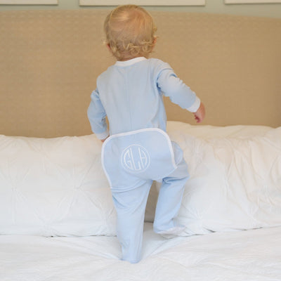 Light Blue Boys 1-Piece Knit Loungewear
