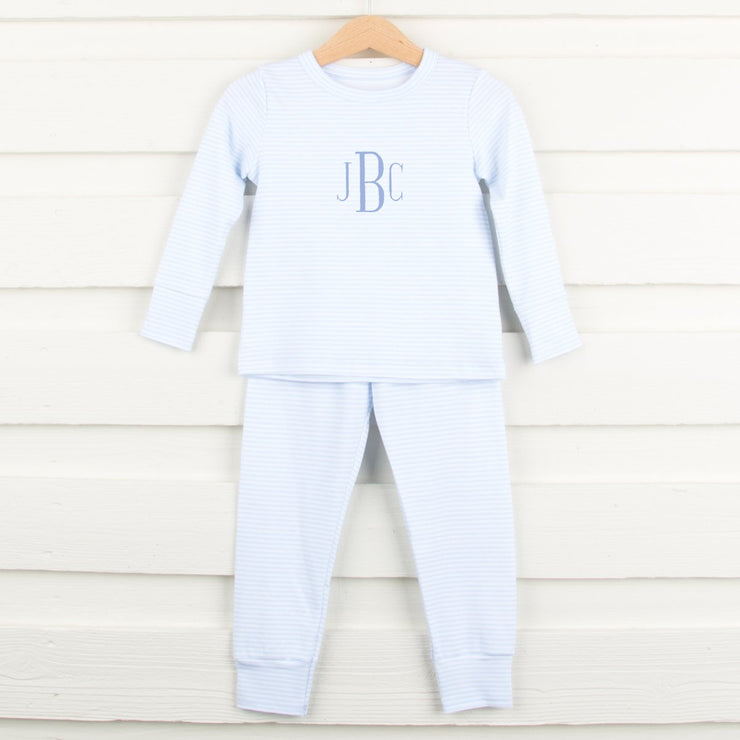 Light Blue Striped Loungewear