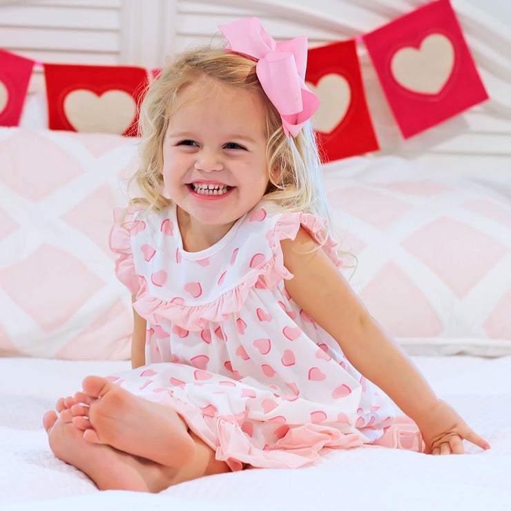 Lovely Heart Gown Knit Pink