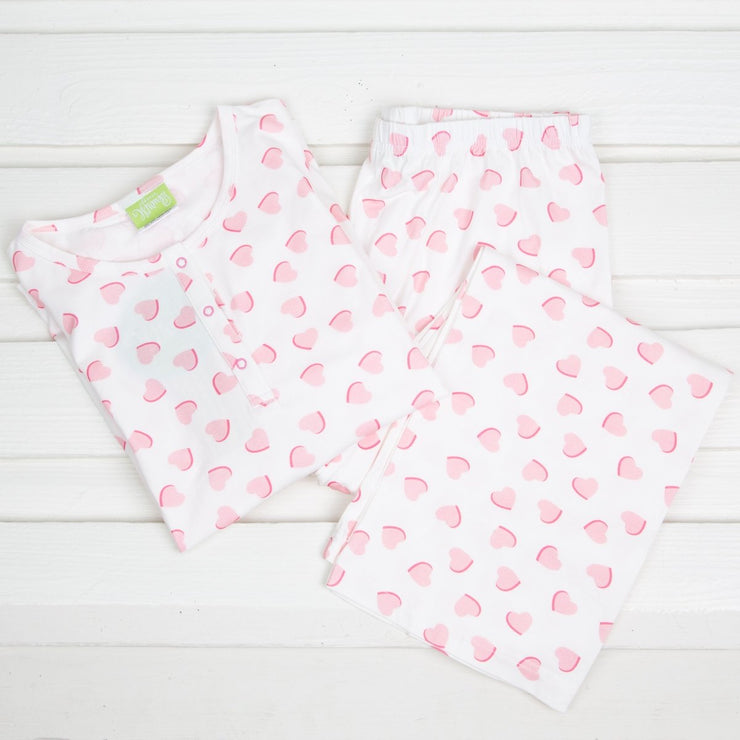 Mom Lovely Heart Loungewear Pink Knit