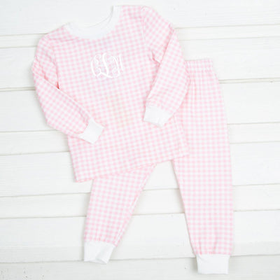 Pink Gingham Tight Fitting Loungewear