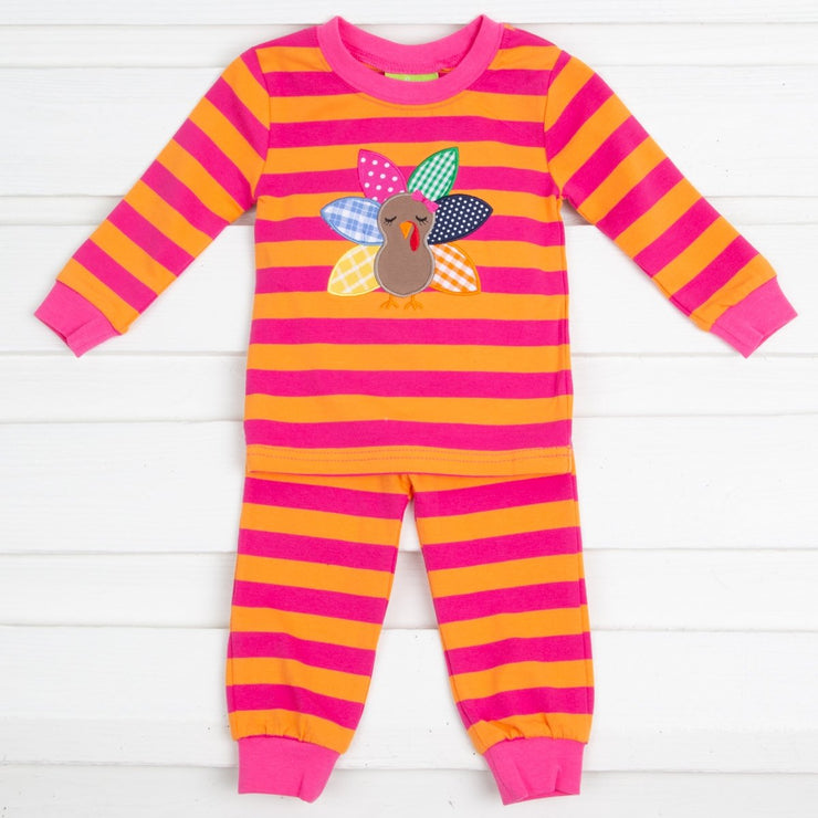 Pink Stripe Turkey Loungewear