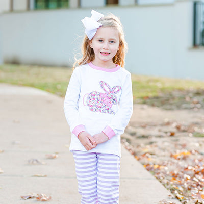 Purple and Pink Floral Bunny Loungewear