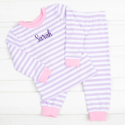 Purple Stripe Knit Loungewear