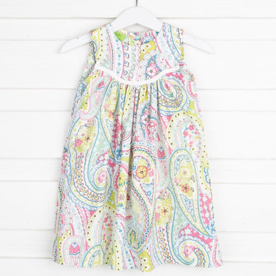 Emma Paisley Dress Lime Green