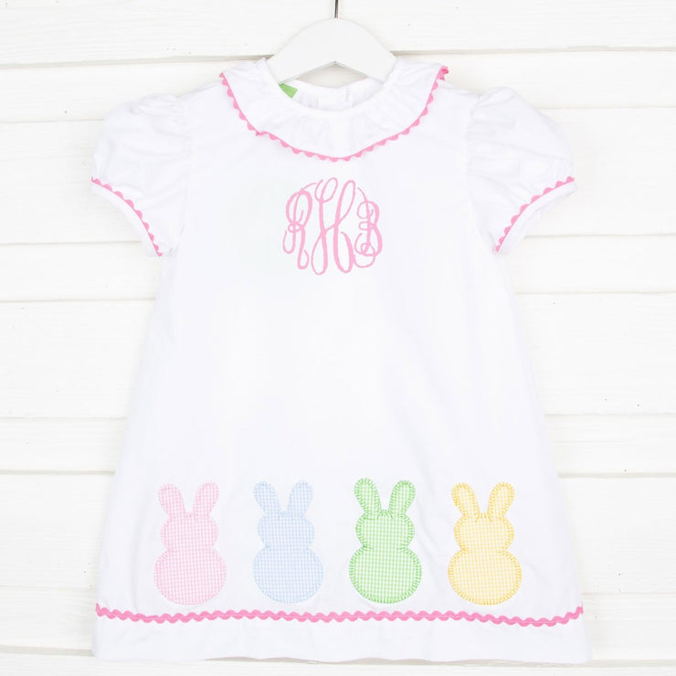 Bunny Peeps Dress White