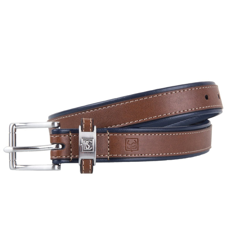Navy and Light Brown Belt