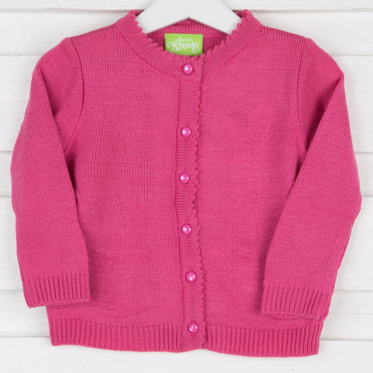 Hot Pink Button Up Sweater