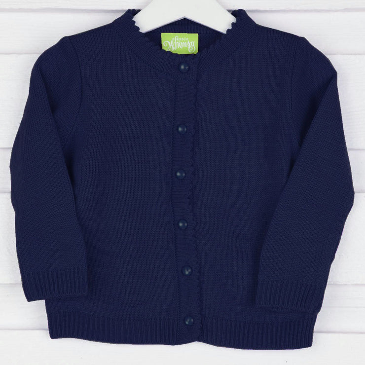 Navy Button Up Sweater
