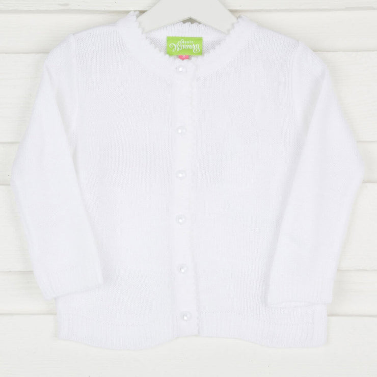 White Button Up Sweater
