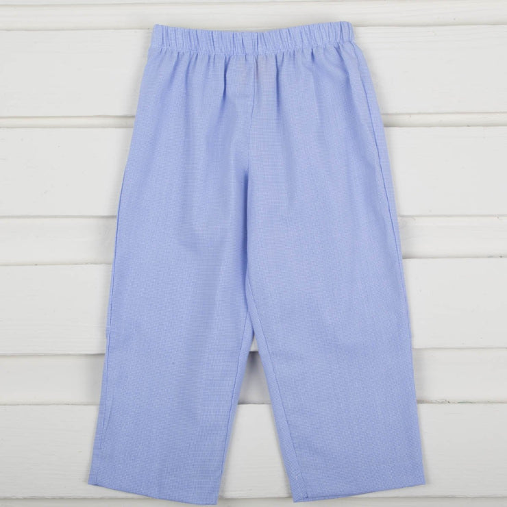 Boy Light Blue Micro Check Pants