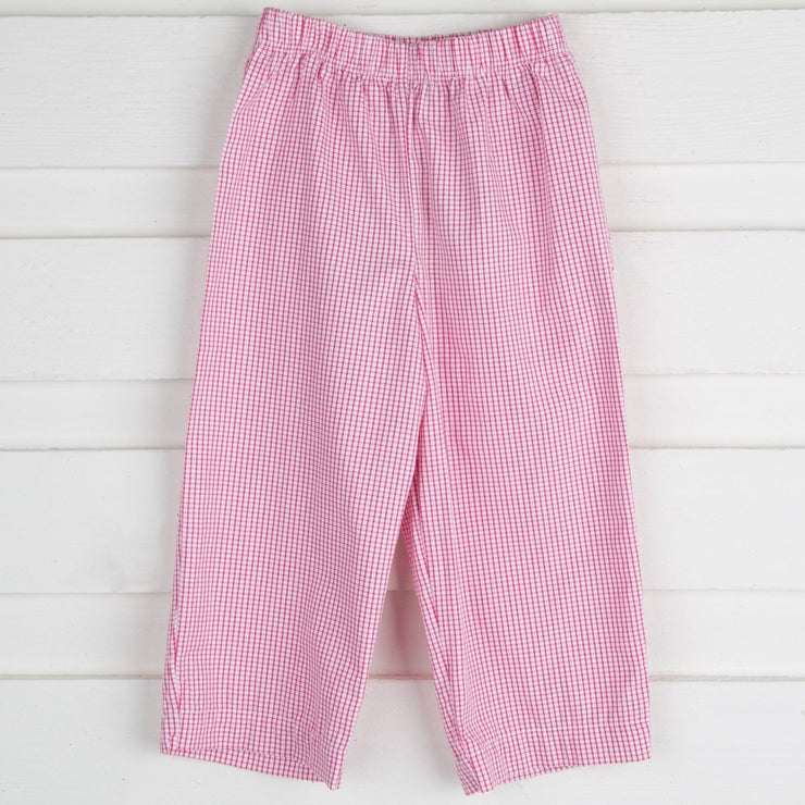 Boys Pants Red Check