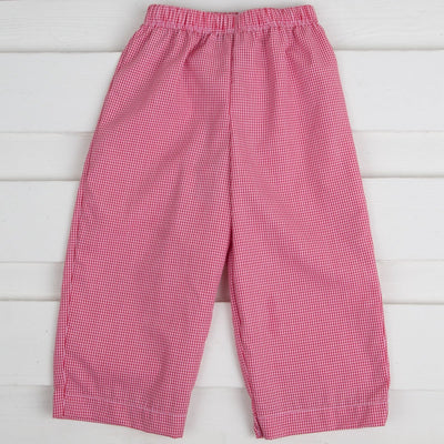 Boys Pants Red Gingham