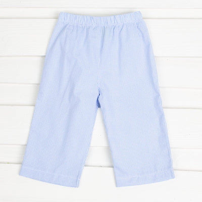 Light Blue Gingham Pants