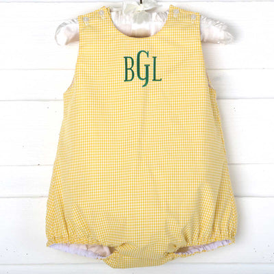Unisex Yellow Gingham Sun Bubble