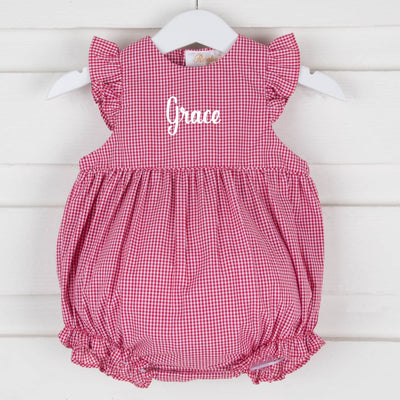 Red Gingham Girl Bubble
