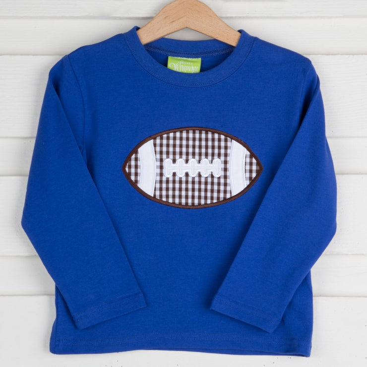 Applique Football Long Sleeve Shirt Knit