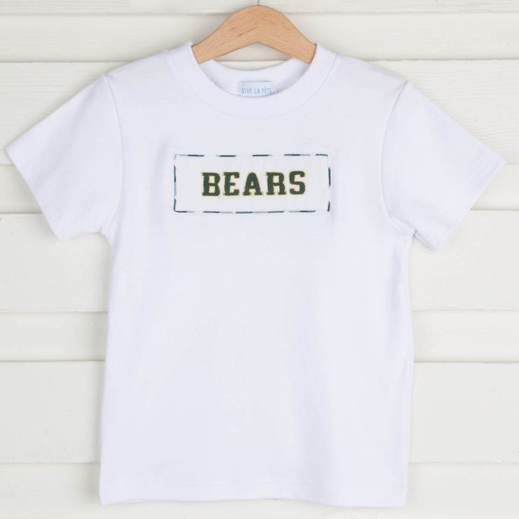 Bears Smocked Shirt Knit White