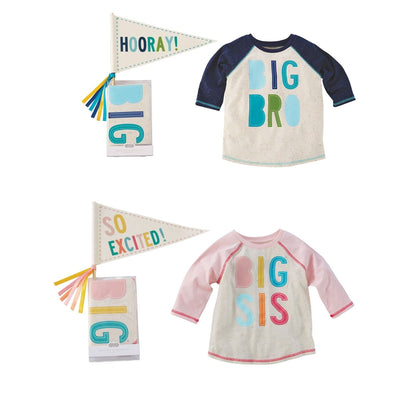Big Sibling Shirt and Pennant Set