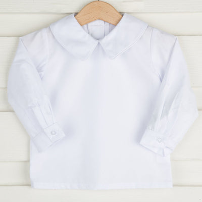 Boys Long Sleeve Undershirt White