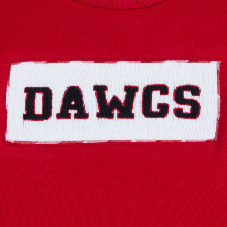 Dawgs Smocked Shirt Red Knit